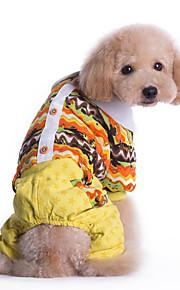 Hund Overall Hundekleidung Lässig/Alltäglich Geometrisch Gelb Blau