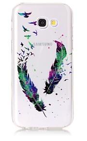 삼성 갤럭시 케이스 a3 (2017) a5 (2017) 케이스 커버 깃털 패턴 높은 투명 tpu 소재 imd 공예 시폰 휴대 전화 케이스