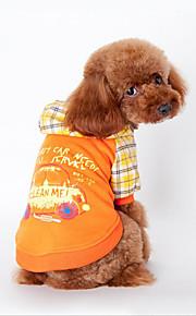 Hund Pullover Hundekleidung Lässig/Alltäglich Buchstabe & Nummer Orange Blau