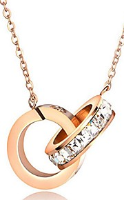 Dame Halskædevedhæng Smykker Geometrisk form Titanium Stål Geometrisk Smykker Til Fødselsdag Fest Hverdag Anden