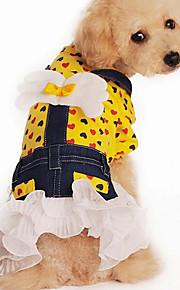 Hund Kleider Hundekleidung Lässig/Alltäglich Herzen Gelb Rosa