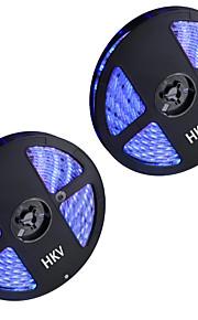 72W Flexibele LED-verlichtingsstrips 6950-7150 lm DC12 V 10 m 300 leds Warm Wit Wit Blauw