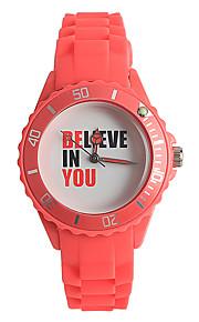 Mulheres Relógio de Moda Japanês Quartzo / Silicone Banda Casual Vermelho