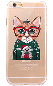 Caso per iphone 7 6 copertura posteriore ultra-sottile della copertura posteriore della copertura posteriore del gatto di iphone 7 più 6