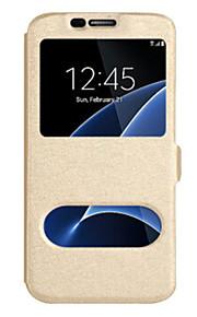 Dla samsung galaxy j7 (2016) j7 (2017) pokrywa obudowy z okularami pełna obudowa pokrowiec solidna farba twarda pu skóra dla Samsunga