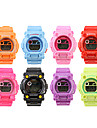 Waterproof Sporty Single Movement Digital Stop Automatic Watch with Night Light - 5 Pack Random Color Cool Watches Unique Watches