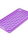 Bubble Transparent Soft Case for iPhone4 (Purple)