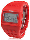 Damen Digitaluhr Quartz digital Band Vintage Rot
