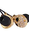 3,5 mm para auscultadores estereo ouvido cravejado de diamantes cranio moda para iphone 6 / iphone 6 mais