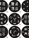 Nail Art Stempel Stamping Schablone Platte M-Serie