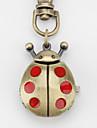 unisexe beatles rouge en alliage à quartz analogique trousseau montre (bronze)
