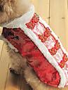 vestido estilo tradicional chinês para cães (XS - XL, vermelho)