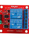(Para arduino) 2-channel placa de rele 5v expansao modulo