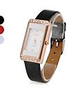 Women's Elegant Style PU Analog Quartz Wrist Watch (Assorted Colors)