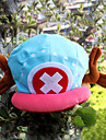 Hat/Cap Inspired by One Piece Tony Tony Chopper Anime Cosplay Accessories Cap / Hat Blue / Pink Velvet Male