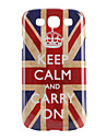 Keep Calm and Carry On Union Jack Pattern Hard Case for Samsung Galaxy S3 I9300 (Multi-Color)