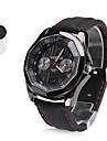 silicone das mulheres analogico relogio de pulso de quartzo (preto)