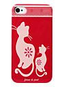 아이폰 4와 4S를위한 고양이 패턴 하드 케이스