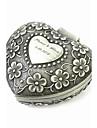 caixa personalizados elegantes em forma de coracao padrao decorativo mulheres estanho de liga de joias