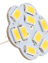 G4 2.5w 9x5630 smd 200-230lm 3000-3500k теплый белый свет лотоса в форме вертикального булавка светодиодная лампочка (12v)