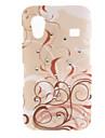 삼성 Galaxy 에이스 s5830를위한 다이아몬드와 갈색 포도 나무 패턴 하드 케이스