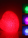 Rose Heart Shaped färgglada ljus LED natt lampa (3xLR44)