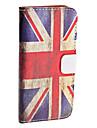"""Ретро чехол из кожзама """"Флаг Великобритании"""" для iPhone 5"""