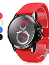 Analog Uomo silicone orologio da polso al quarzo (colori assortiti)
