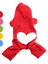 Собаки Толстовки Красный / Оранжевый / Желтый / Зеленый / Синий / Розовый Одежда для собак Зима Сердца