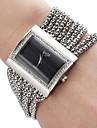 Женская сплава аналогового кварцевые часы браслет (серебро)