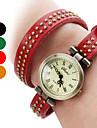 여성의 PU 아날로그 석영 팔찌 시계 (모듬 색상)