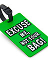 Travel Luggage Tag - EXCUSE ME,NOT YOUR BAG(Green)