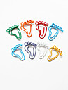 Footprint Style Colorful Paper Clips (Random Color, 10-Pack)