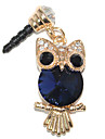 3.5mm Cute Sapphire Owl Pattern Anti-dust Earphone Jack
