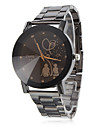 Unisex Lovers Pattern Black Alloy Quartz Wrist Watch Cool Watch Unique Watch
