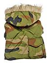 Armée Camouflage style manteaux chauds avec des hoodies pour les chiens (XS-XXL)