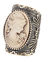 유행 개성 아름다움 머리 터키석 보석 반지