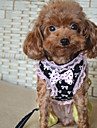Cat Dog Harness Leash Casual Bowknot Black Pink Nylon Lace