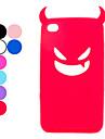 Дьявол защитный чехол силикагеля для Ipod Touch 4 (разных цветов)