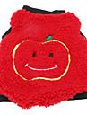 Собаки Толстовка Красный Одежда для собак Зима Весна/осень Фрукты На каждый день Сохраняет тепло