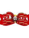 Dog Hair Accessories Red Dog Clothes Winter / Spring/Fall Bowknot Cute / Christmas
