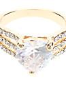 Heart-shaped Zircon Diamond Ring