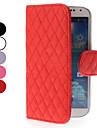 Grade Design Capa de Couro com slot para cartão de Samsung i9500 Galaxy S4