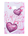 Purple Heart Pattern Soft Case for LG Optimus L3 E400