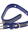 Косточками металла Pattern ночь безопасности Отражающая PU кожаный ошейник для собак (шея :24-36см, разных цветов)