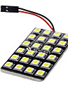 T10 BA9S Festoon Car White 12W SMD LED 6000-6500 Reading Light License Plate Light Door lamp