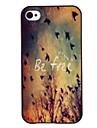 Custodia rigida con disegno di uccelli in volo, colorata, in PC, per iPhone 4/4S