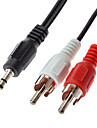 3.5mm audio a 2 RCA macho a cable macho (1.0m)