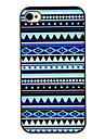 Blue Tones Coloured Drawing Pattern Black Frame PC Hard Case for iPhone 4/4S