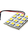 9mm 2.5W 12x5050SMD 120-150LM 3000-3500 Warm White LED License Plate Dome Light (DC 12V)